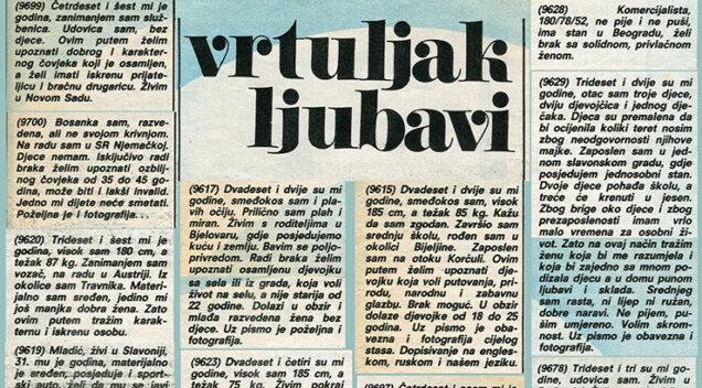 Ljubavni oglasi u starim novinama