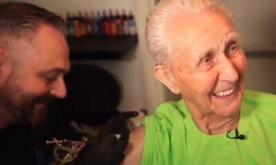 Djed od 104. godine prvi put se tetovirao