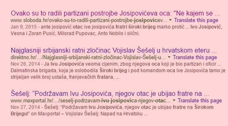 Je li otac Ive Josipovića ubijao fratre?