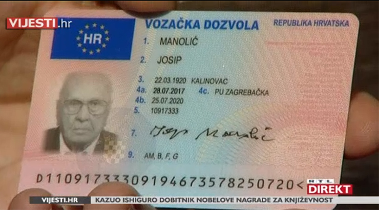 Tko je najstariji vozač u Hrvatskoj?