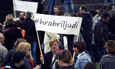 Prosvjed #spasime u Zagrebu